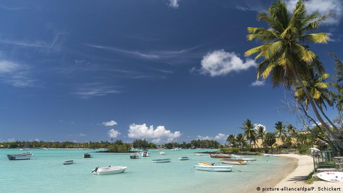 Playa en Islas Mauricio.