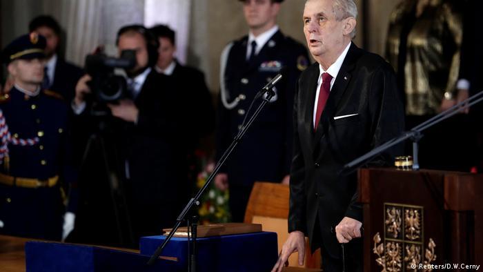 President Milos Zeman at his inauguration in Prag Castle