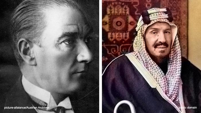 Mustafa Kemal Atatürk und Abd al-Aziz ibn Saud