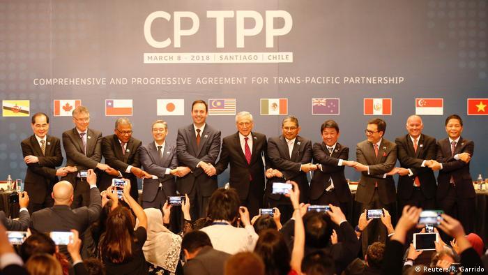 CPTPP于2018年3月在智利签署,目前共有11个成员国