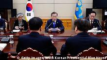 Südkorea Rückkehr der Delegation aus Nordkorea (Getty Images/South Korean Presidential Blue House)