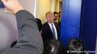 Donald Trump at the White House press briefing room