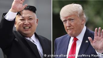 Bildkombo Kim Jong Un und Donald Trump