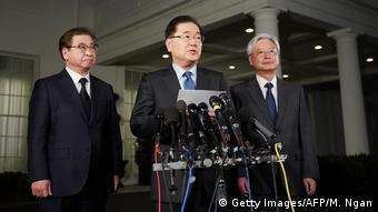 Delegação sul-coreana na Casa Branca