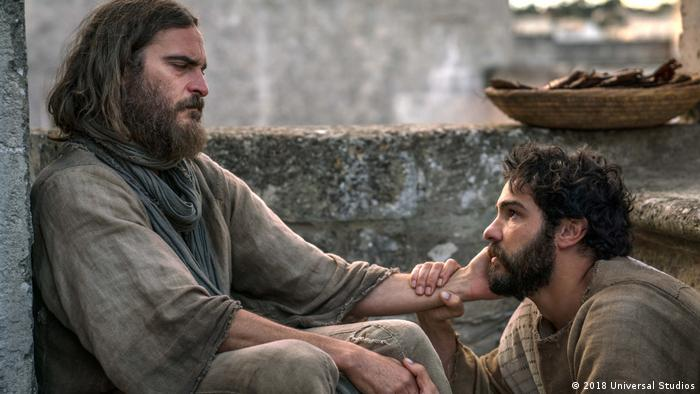 Film still Mary Magdalene with Jesus and Judas (2018 Universal Studios)