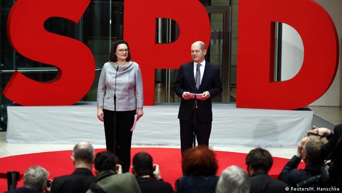 Berlin Nahles und Scholz stellen SPD-Minister vor