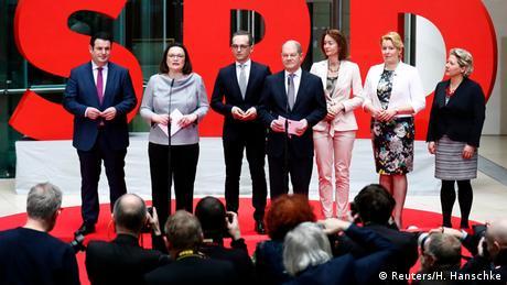 Oι υποψήφιοι υπουργοί του SPD