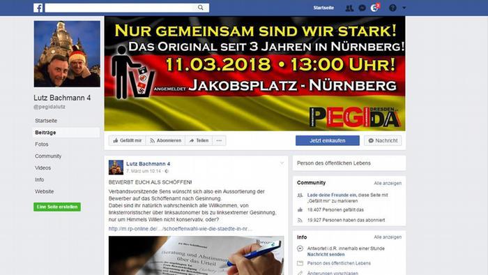 Screenshot Facebook Lutz Bachmann lay judges post
