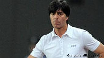 German coach Joachim Loew standing on the sidelines