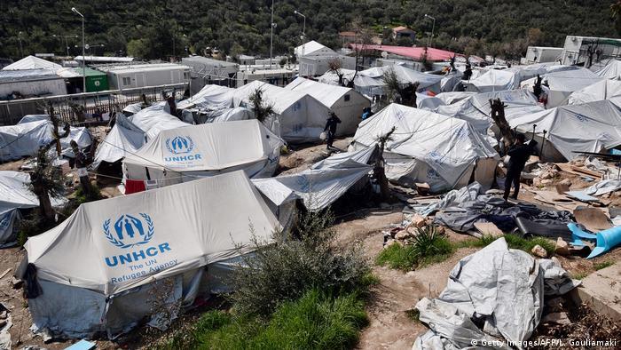 Moria camp in Greece