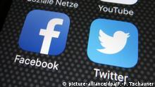 Facebook und Twitter Symbolbild