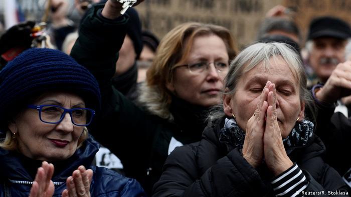 Protesters in Slovak capital Bratislava