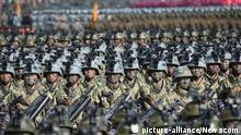 Nordkorea Militärparade in Pyeongchang