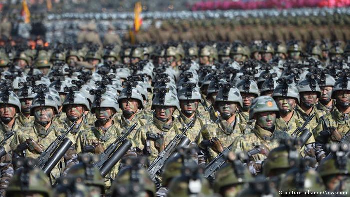 Военный парад в Пхеньяне (снимок из архива)