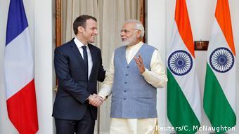 Macron and Modi in New Delhi (Reuters/C. McNaughton)