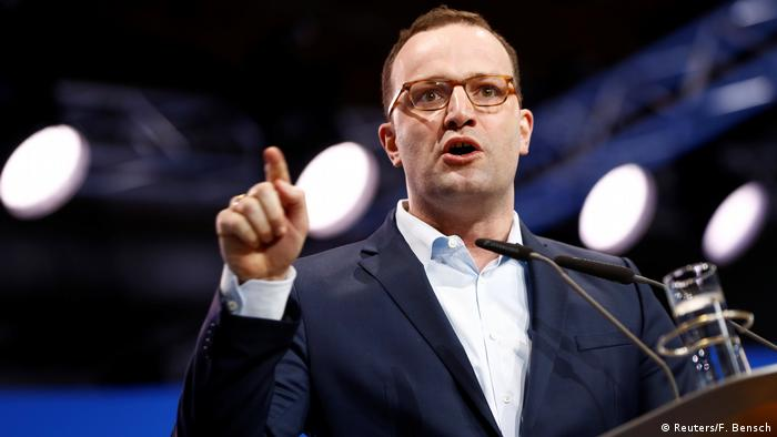 Jens Spahn speaking at a CDU party congress