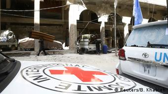 Syrien CIRC und UN-Hilfskonvoi in der belagerten Stadt Douma (Reuters/B. Khabieh)