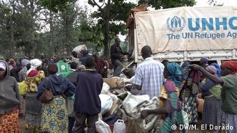 Burundische Flüchtlinge im Bugarama-Camp im Kongo