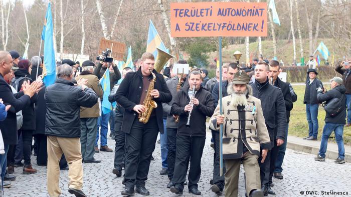 Marș pentru autonomie, Tg Mureș 10 martie 2018 (DW/C. Ștefănescu)