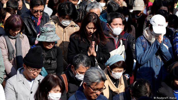 Japan Trauerfeier 7. Jahrestag der Tsunami-Katastrophe 2011