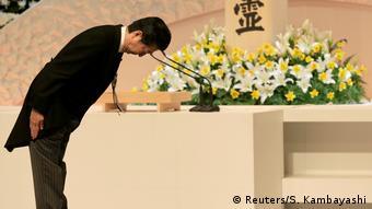 Japan Trauerfeier 7. Jahrestag der Tsunami-Katastrophe 2011 | Shinzo Abe, Premierminister