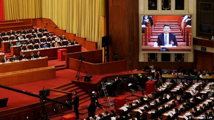 China Nationaler Volkskongress 2018 in Peking | Präsident Xi Jinping (Reuters/J. Lee)
