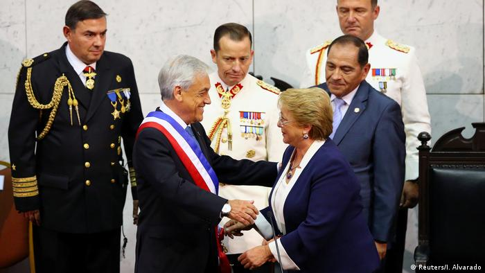 Sebastian Piñera e Michelle Bachelet