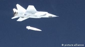 Российский МиГ-31 с ракетой Кинжал (фото из архива)