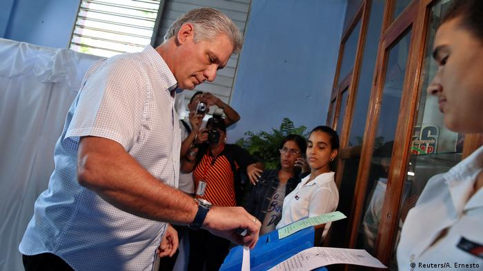 Cuba Vice President Miguel Diaz-Canel votes in parliamentary elections