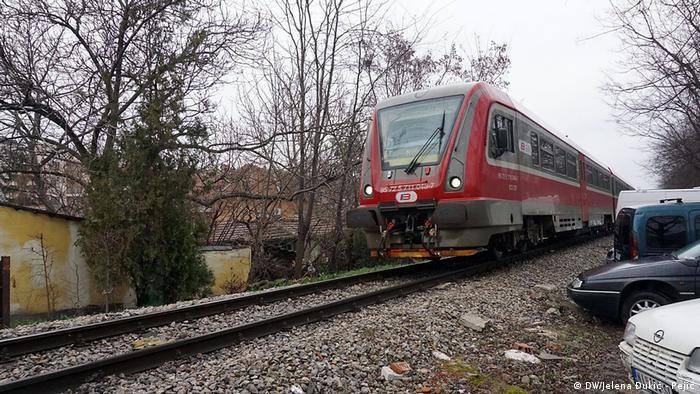 Serbien Nis Umbau der Eisenbahn