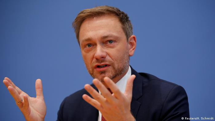 Deutschland Bundespressekonferenz in Berlin Christian Lindner (Reuters/A. Schmidt)