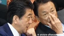 Japan Premierminister Abe, Finanzminister Aso
