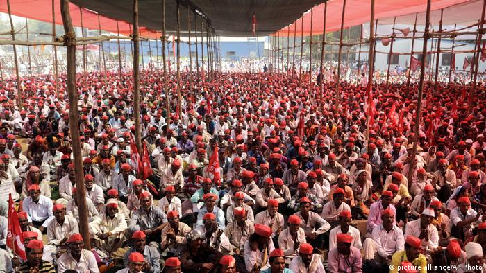 Farmers' protest in India (picture alliance/AP Photo)
