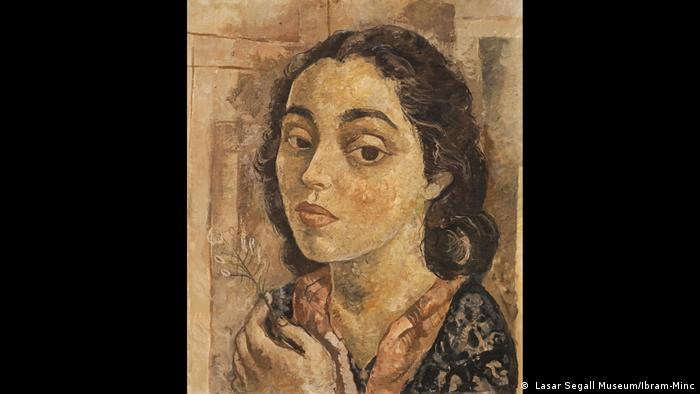 Lasar Segall. LASAR SEGALL Lucy with Flower, c. 1939-42, Oil on canvas, 47 x 56 cm, Scottish National Gallery of Modern Art, Photo - Lasar Segall