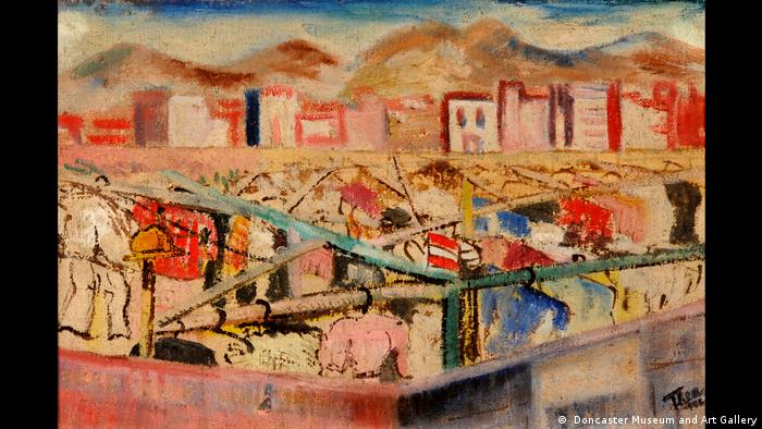 Landscape, 1943. The Haberfeld. Oil on canvas, 35 x 52 cm. Doncaster Museum and Art Gallery.