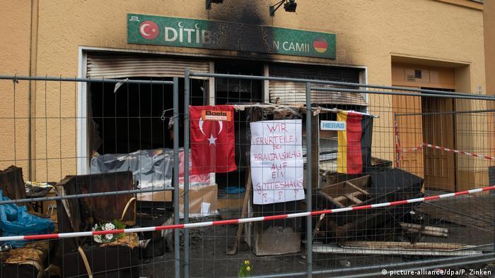 Berlin Brandanschlag auf türkische Moschee