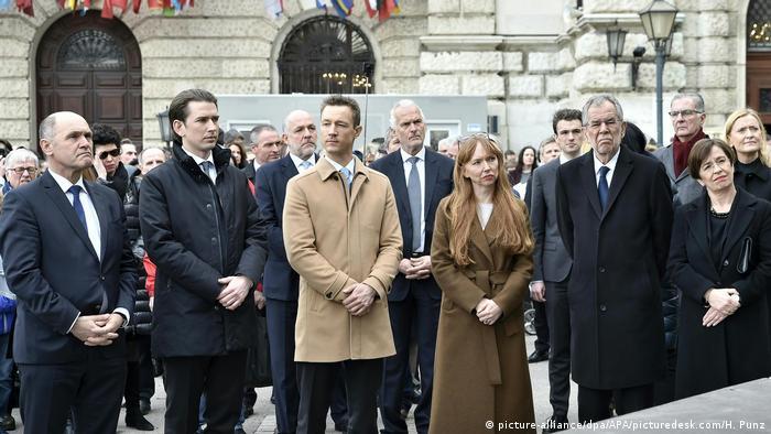 Österreich Eröffnung der Klanginstallation im Rahmen des 80. Jahrestages des Anschlusses Österreichs an Nazideutschland (picture-alliance/dpa/APA/picturedesk.com/H. Punz)