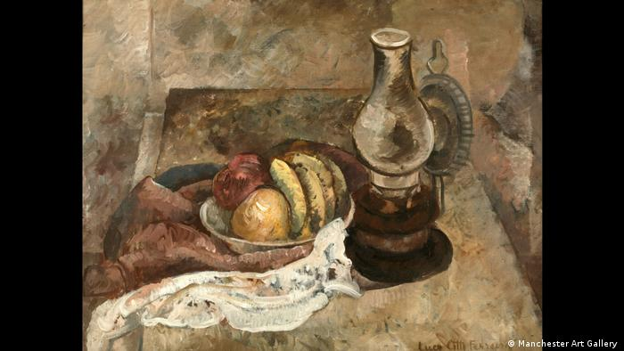 LUCY CITTI FERREIRA, Still Life with a Lamp, n.d. Oil on canvas, 81 x 64 cm, Manchester Art Gallery