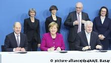 Deutschland Unterzeichnung Koalitionsvertrag