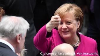Angela Merkel në ceremoninë e nënshkrimit