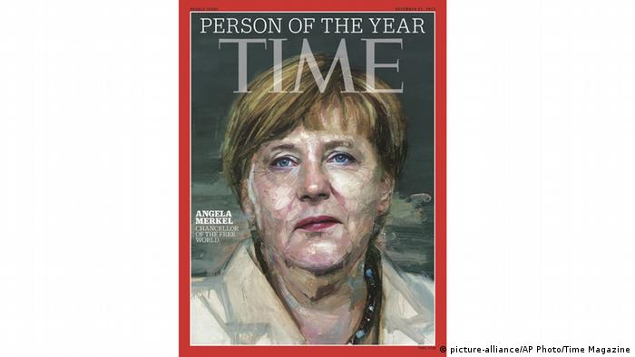 Time Magazine Cover 2015 mit Bundeskanzlerin Angela Merkel. (picture-alliance/AP Photo/Time Magazine)