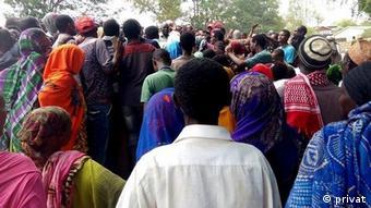 Äthiopien vertriebene Moyale-Bewohner in der Oromia-Region