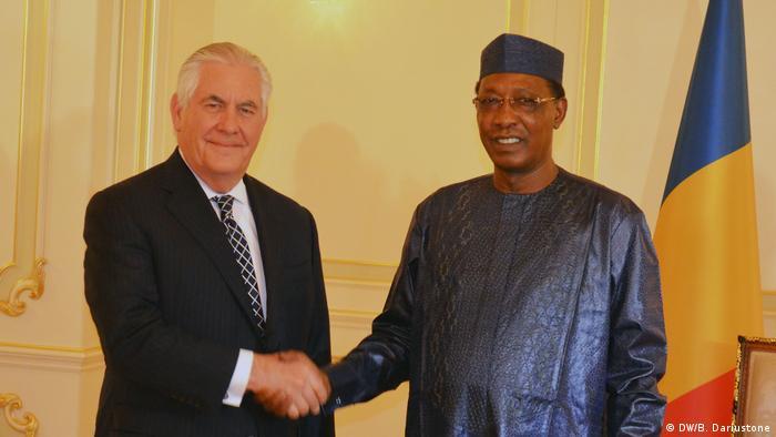 Tchad Treffen zwischen Präsident Idriss Déby und US-Außenminister Rex Tillerson