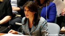 USA UN-Sicherheitsrat US-Botschafterin für die UN Nikki Haley