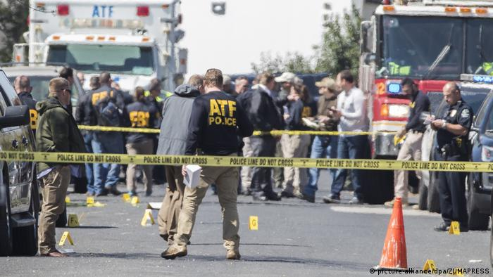 The scene of the second Austin bombing in Austin, Texas (picture-alliance/dpa/ZUMAPRESS)