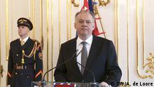 09.03.2018++Bratislava, Slowakei+++ Präsident Andrej Kiska