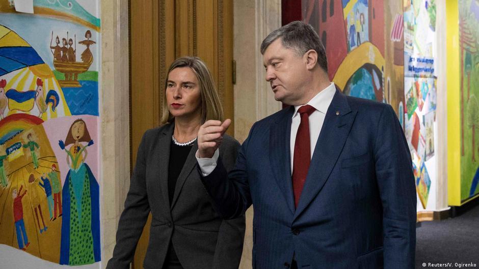 Ukraine | Präsident Poroshenko empfängt die EU-Außenministerin Federica Mogherini