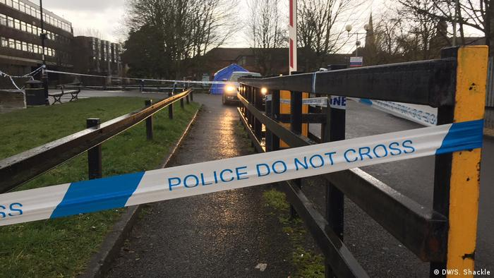 A police cordon in Salisbury (DW/S. Shackle)