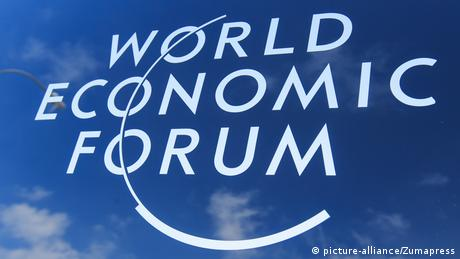 Logo Weltwirtschaftsforum, World Economic Forum, WEF (picture-alliance/Zumapress)
