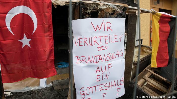 Deutschland Brandanschlag auf Berliner Moschee